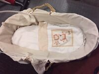 Moses basket missing hood cover £3