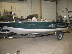 2006 Mirrocraft 16' side console with 75 Yamaha 4 stroke