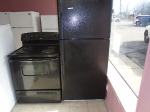 ge black fridge stove can delivery