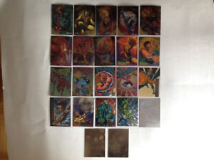 3a766accaef Marvel collecter cards 22 insert lot