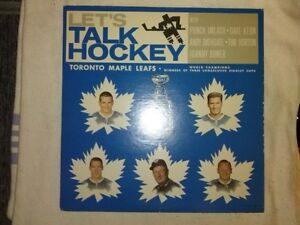 Maple Leafs -lets talk hockey-1964 lp record &leaflet inst.