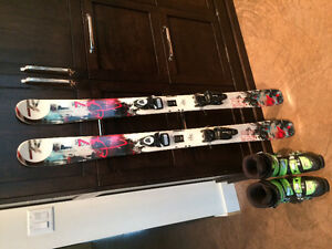 Kids Powder skis and/or boots for sale Prince George British Columbia image 1