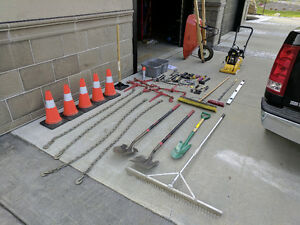 Landscaping Package - Tamper, Chains, Binders, Wheel Barrow Etc