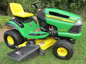 "JOHN DEERE RIDING MOWER L-145-22HP-48"" Deck-Automatic- Like NEW!"