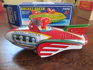 Rocket cars (3) and Dick Tracy car