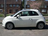 2012 Fiat 500 0.9 TwinAir ( 85bhp ) ( s/s ) LOUNGE 3DR 62REG Petrol White