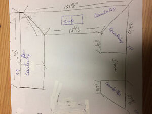 Countertop - see picture for dimensions - great condition St. John's Newfoundland image 4
