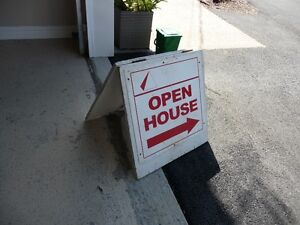 Open house signs for sale