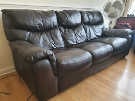 MUST GO - Used Leather Sofa - 3 Seater + 2 Seater - West London