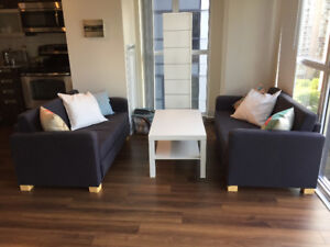 Two IKEA Sofa beds / Love seats (Solstace) similar to Askeby