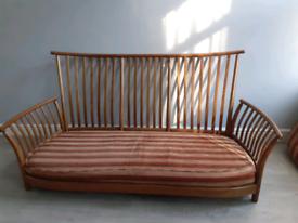 Retro ercol renaissance 3 seater sofa . Original covers