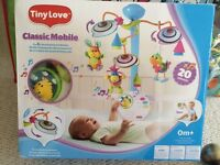 Tiny Love Classic developmental baby mobile boxed RRP £40