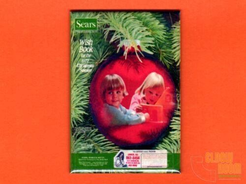 "Sears 1977 Christmas Wish Book cover 2x3"" fridge/locker magnet vintage catalog"