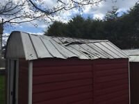 Need someone to repair steel shed roof