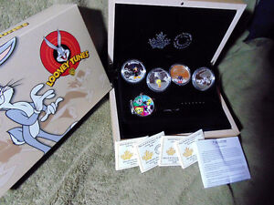 Set of 4 x 1 oz 2015 Looney Tunes™ Wrist Watch Silver Proof Coin London Ontario image 4