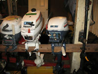 Redone outboard motors. Garage running out of room