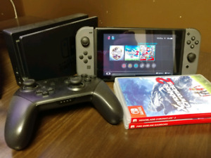 Nintendo Switch w/ 3 Games and Pro Controller