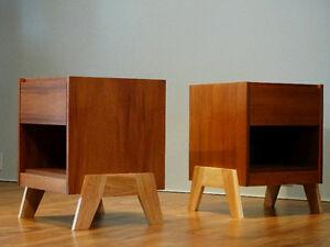 Tables de chevet en teck / Teak nightstands (Midcentury.vintage)