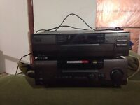 5 disc cd player, stereo and speakers