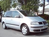 SEAT ALHAMBRA 1.9TDi 2004 7 SEATER FSH 12 STAMPS CAMBELT NEW CLUTCH HPI CLEAR
