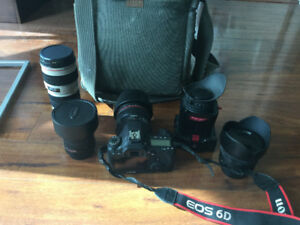 Canon 6D with 4 Lens and many accessories