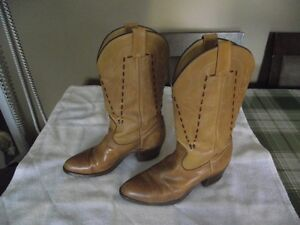 mens leather wesrten style boots REDUCED PRICE