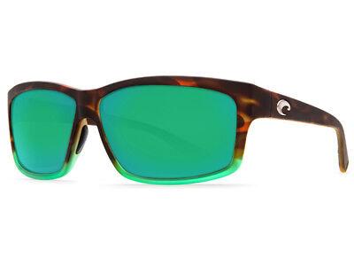 dec6704cbaf4f NEW Costa Del Mar CUT Matte Tortuga Fade   580 Green Mirror Plastic 580P