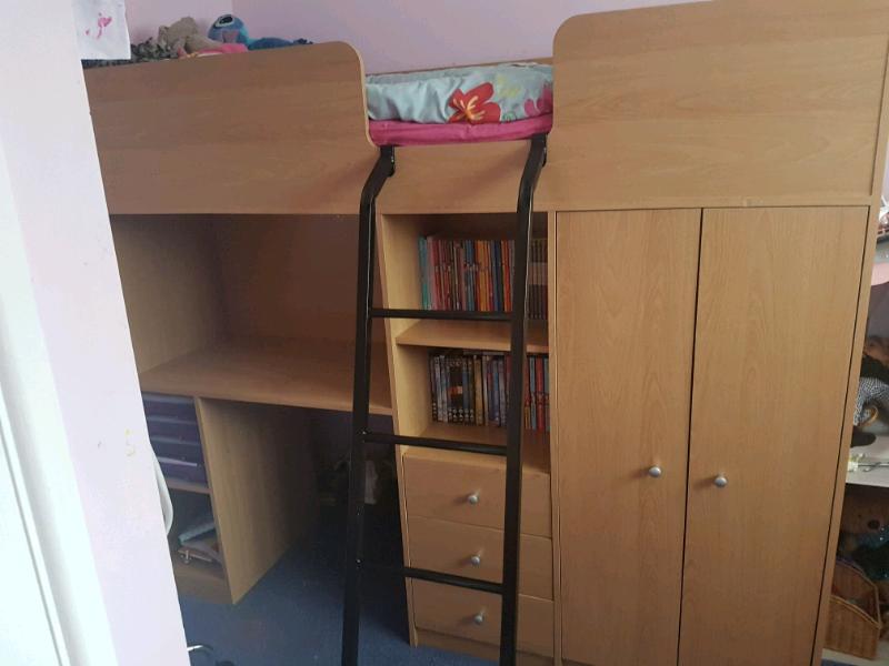 Shorty single cabin bed high sleeper | in Plymouth, Devon ...