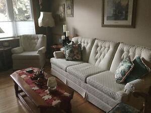 Sofa and chair with well built frame Strathcona County Edmonton Area image 1