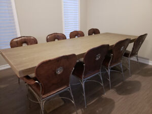 Genuine Leather Dining Chairs - $150