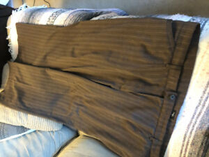 Brown striped dress pants size 22 asking $5 see pictures