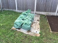 19 bags of grass sod and soil