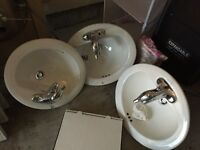 3 Bathroom and Kitchen Sinks