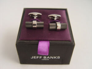 New in Box Jeff Banks Cuff Links England Designer