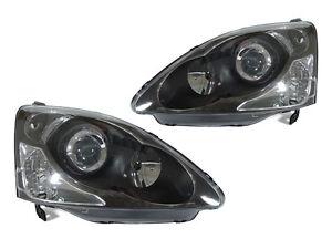DEPO JDM Black Projector Headlight + Bulb For 2002-2005 Honda Civic 3D Si HB EP3