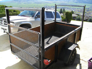 2009 4 x 8 Utility Trailer with Box Liner, Rack & Loading Ramp