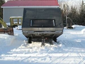 Covered snowmobile trailer for sale