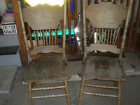 2 OLD CHAIRS TO BE REFINISHED OR PAINTED..$29 for both