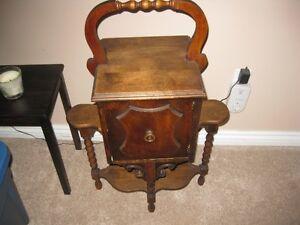 rare Tobacco table walnut unique design
