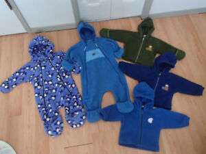MEC POLARTEC FLEECE BUNTING SUIT,FLEECE JACKET,SIZE 12-18 MONTHS