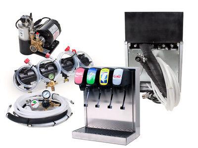 4 Flavor Home Soda Fountain System  Remote Chiller
