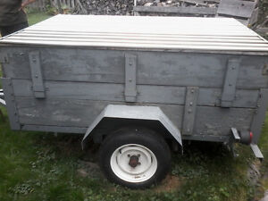 "Utility trailer 6""×4""×2"" with 12"" tires"