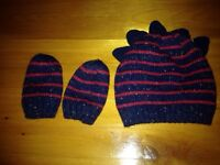 Infant hat and mittens set