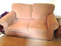 2 seater brown/taupe sofa £40 ONO