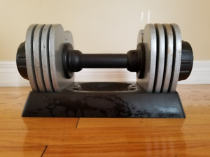 Adjustable Dumbbell set with Tray