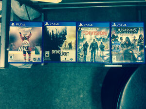 Playstation 4 Games - The Division, Dying Light, NHL 16