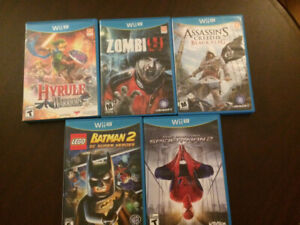 Wii and Wii U games for sale