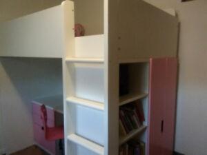 Single Girl's bunkbed/ desk/ closet
