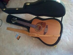 Norman B18 EQ 12 string guitar with hard shell case, etc.