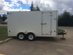 Royal 14 x 7  Covered Utility Trailer